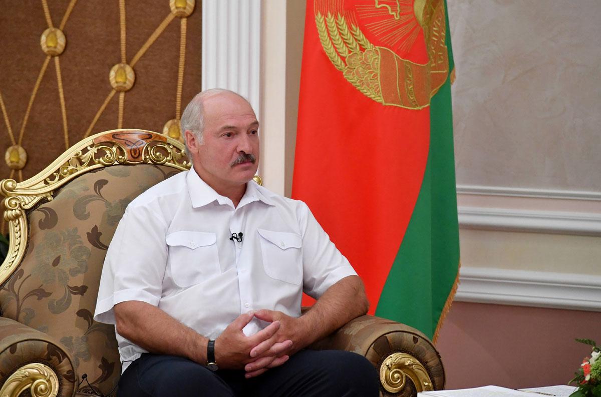 """Президент Беларуси Александр Лукашенко 25 августа дал интервью телеканалу """"Беларусь 1"""""""